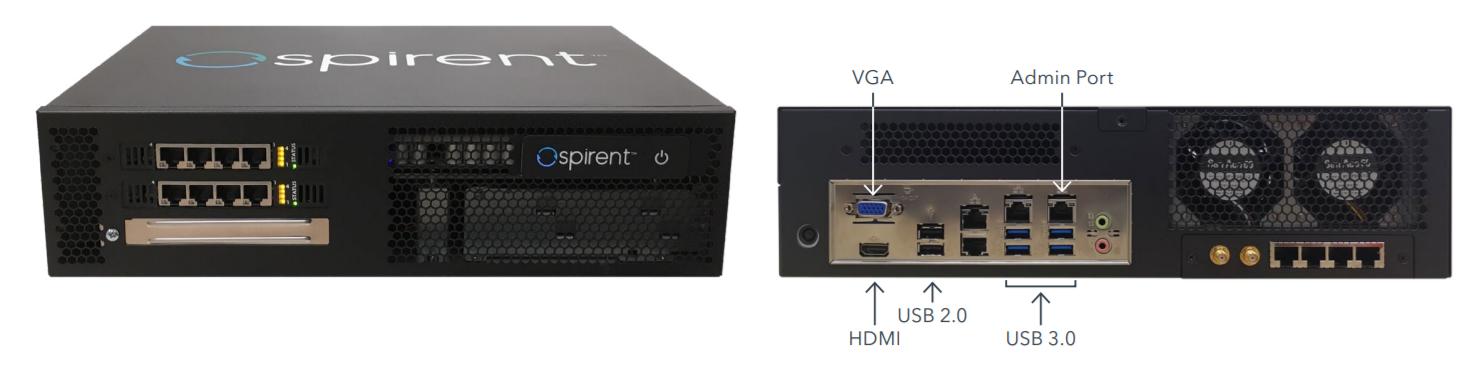 Внешний вид портативного генератора трафика Spirent-C2