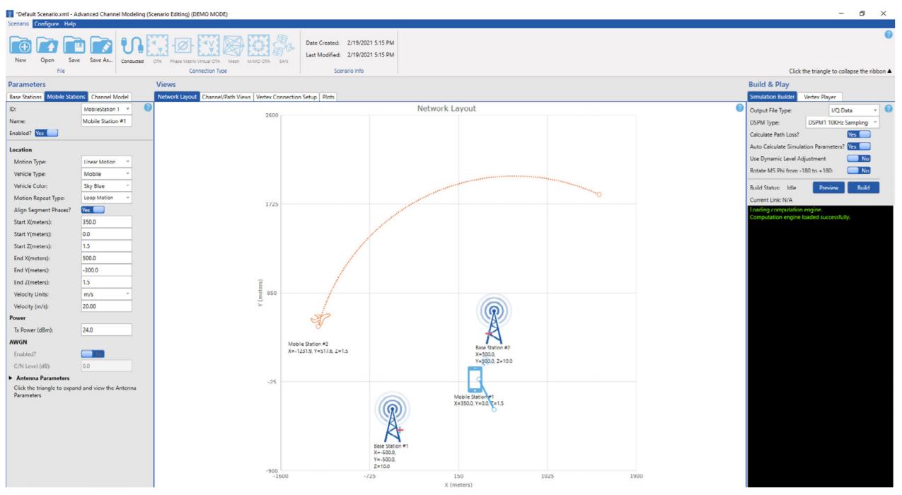 Интерфейс программного обеспечения для создания модели радиоканала